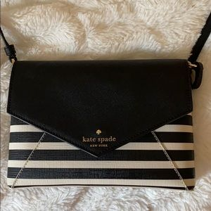 kate spade Bags - Black and white striped Kate spade bag